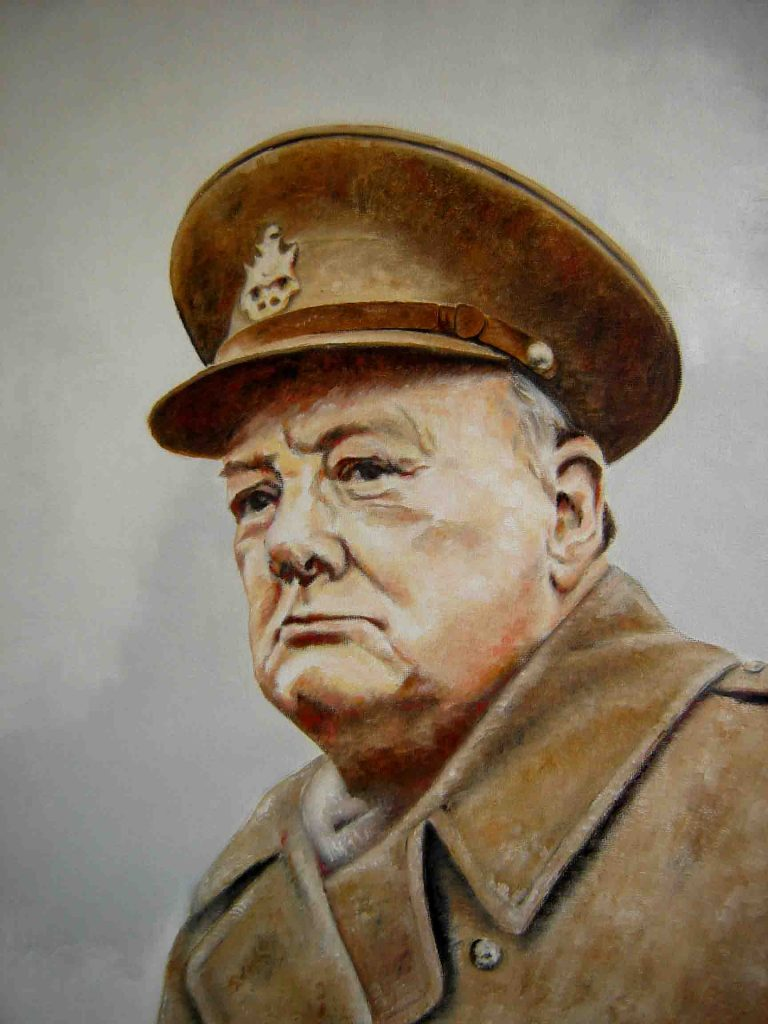 Churchill rallied his countrymen against the Nazis, but was also an avid hunter.